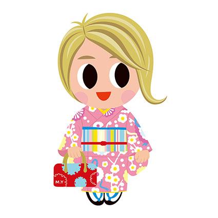 ファッションデザイナーマスコット 「ミナコちゃん」