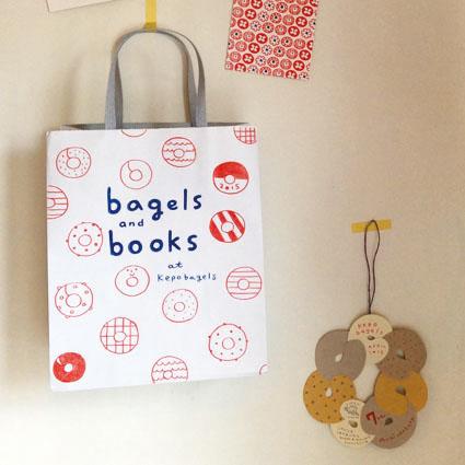 bagels&books ディスプレイ